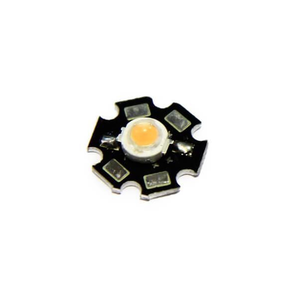 Фито светодиод 3 Вт 660 нм. (красный) на PCB «звезда»