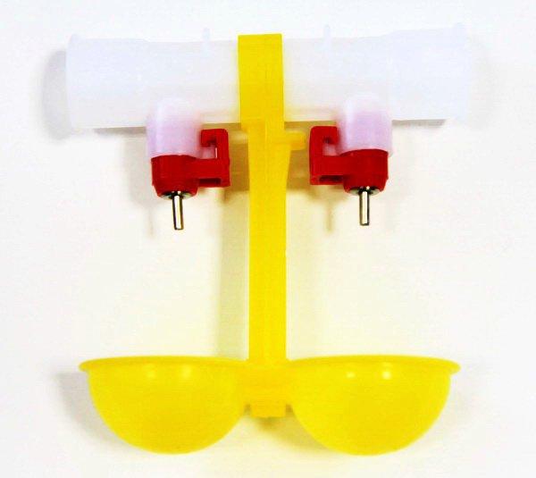 Ниппельная поилка двойная с каплеуловителем НП18