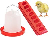 Бункерные кормушки и вакуумные поилки для птиц и кроликов