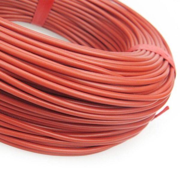 Нагревательный кабель 133 Ом 10 метров 2 мм силикон