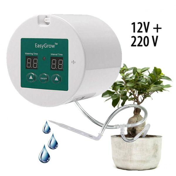 Набор для капельного полива домашних растений с таймером (питание от батареек ААА или 220 вольт)