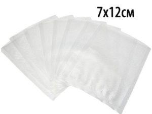 Упаковка для вакуумных машин. 7х12см (100шт). пакет для вакуумной упаковки продуктов.