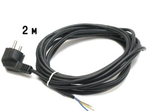 Сетевой шнур с вилкой (ПВС 2*0,75)