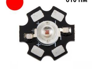 Фито светодиод 3 Вт 610 нм. (красный) на PCB «звезда»