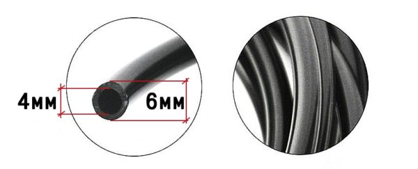 Микротрубка для капельного полива 4мм * 6 мм 10 метров