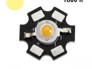 Фито светодиод 3Вт, 1800К на подложке PCB «звезда»
