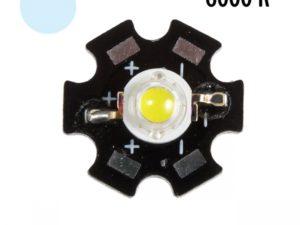 Фито светодиод 3 Вт 6000-6500K холодный белый на PCB «звезда»