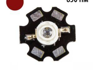 Фито светодиод 3 Вт 850 нм. (ИК спектр) на PCB «звезда»