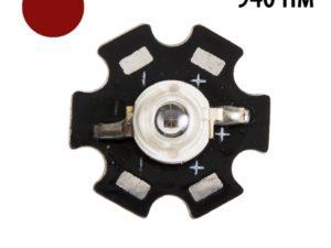 Фито светодиод 3 Вт 940 на PCB «звезда»