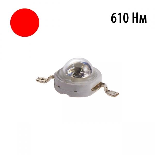 Фито светодиод 3 Вт 610 нм. без PCB
