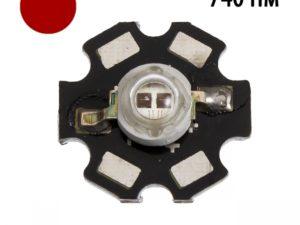 Фито светодиод 5 Вт 730-740 нм. (дальний красный) на PCB \»звезда\»