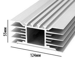 Алюминиевый радиатор охлаждения. Профиль 124мм*55мм*4,7кг