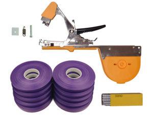 Тапенер для подвязки Bz-3+скобы+10 фиолетовых лент