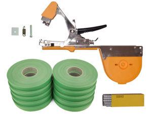Тапенер для подвязки Bz-3+скобы+10 зеленых лент