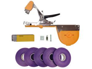 Тапенер для подвязки Bz-3+скобы+5 фиолетовых лент