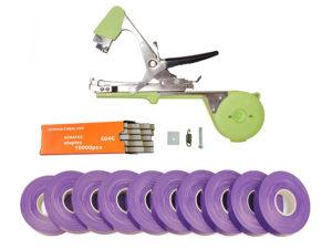 Тапенер для подвязки Bz-2+скобы+10 фиолетовых лент