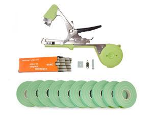 Тапенер для подвязки Bz-2+скобы+10 зеленых лент