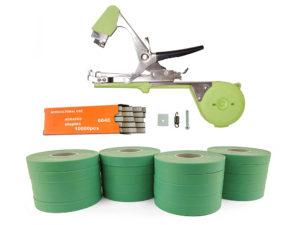 Тапенер для подвязки Bz-2+скобы+20 зеленых лент