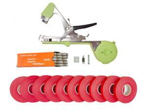 Тапенер для подвязки Bz-2+скобы+10 красных лент